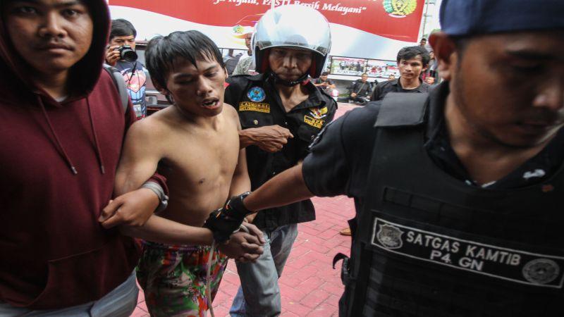 Tahanan kabur yang sudah ditangkap (Foto: Antara)
