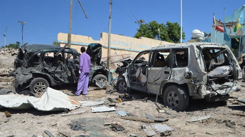 Serangan bom mobil di Somalia. (Foto: Al-Jazeraa)