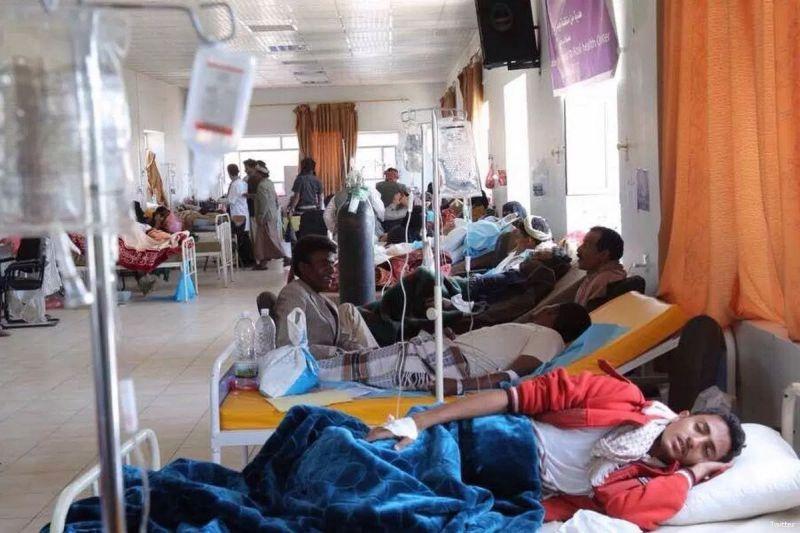 Warga Yaman yang terjangkit wabah kolera. (Foto: Memo)