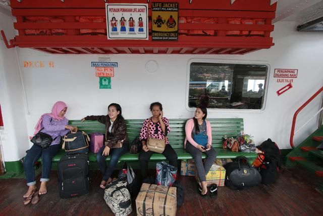 Pemudik Pelabuhan Merak (Foto: Feri Usmawan)