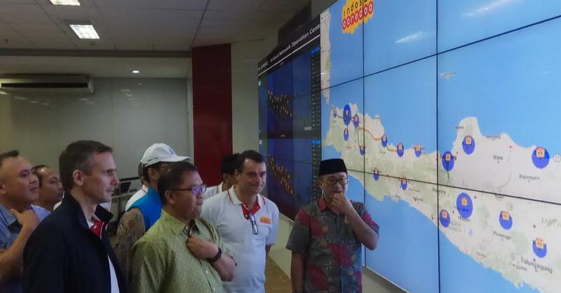Kominfo Pantau Kesiapan Jaringan Kunjungi NOC Operator