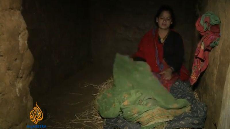 Ilustrasi. Pelaksanaan tradisi Chhaupadi. (Foto: Al Jazeera)