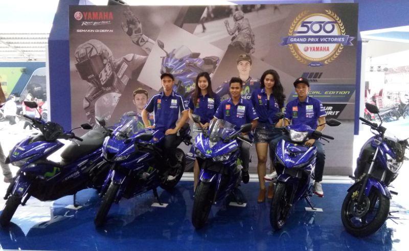 Yamaha luncurkan 5 model sepeda motor ber-livery Movistar MotoGP (Foto: Anton/Okezone)