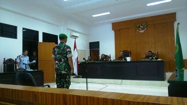 Bunuh Ketua DPC Perindo Medan, Kopda Lamhot Dituntut 1 Tahun Penjara