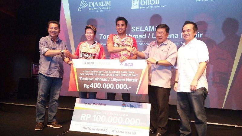 Juara Indonesia Open, Owi/Butet Diguyur Bonus Rp500 Juta