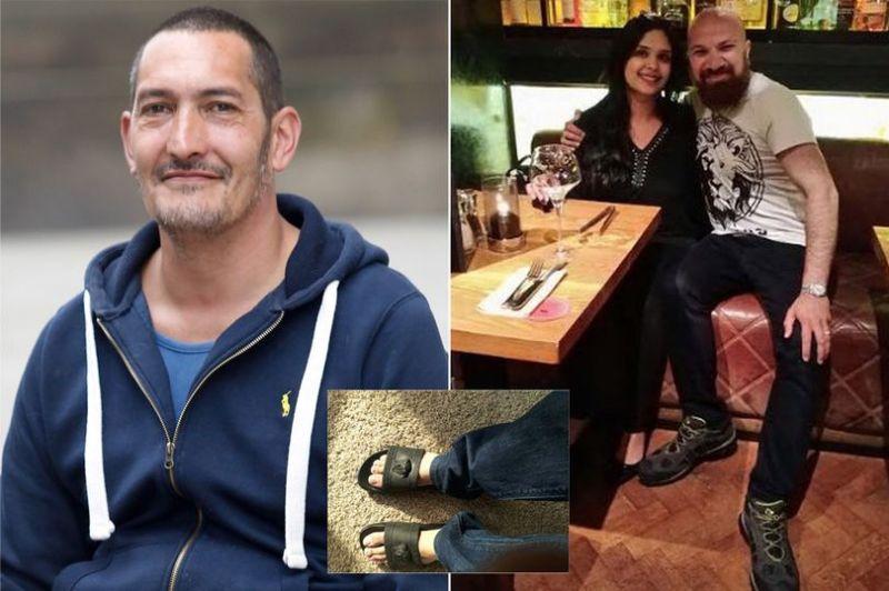 Jonathon Byles (kiri), Akbar Badshah dan istrinya (kanan). (Foto: Manchester Evening News)
