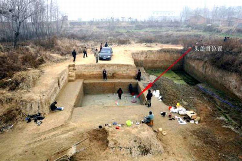 Inilah lokasi penemuan fosil manusia prasejarah yang dikenal dengan nama Manusia Xuchang (Foto: China Daily)