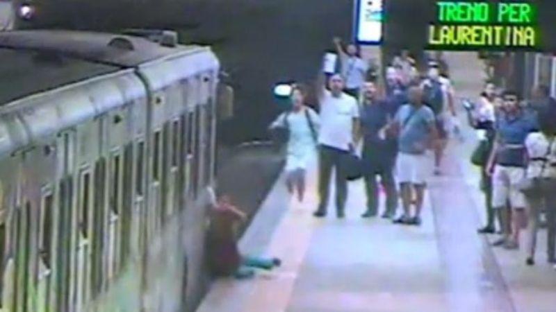 Natalya Garkovich asal Belarusia terseret kereta api di Stasiun Termini, Roma, Italia (Foto: BBC)