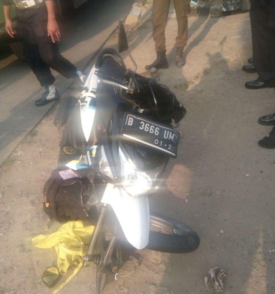 Sepeda motor korban. (Taufik F/Okezone)