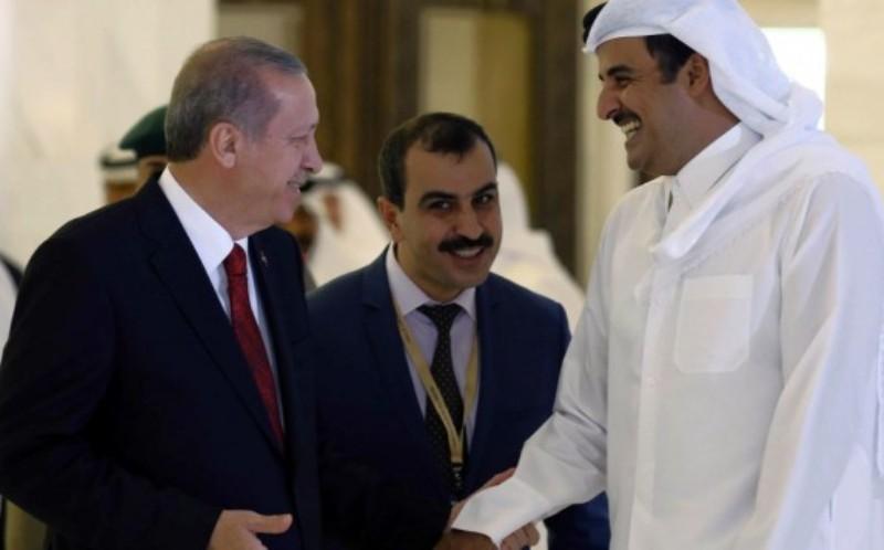 Presiden Turki dan Emir Qatar. (Foto: Yasin Bulbul/AP)