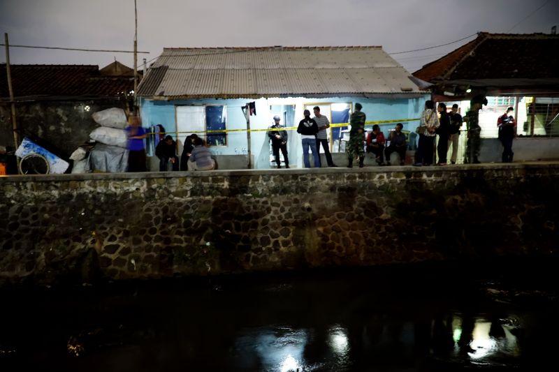 Lokasi Meledaknya Bom Panci di Buah Batu, Bandung (Foto: Antara)