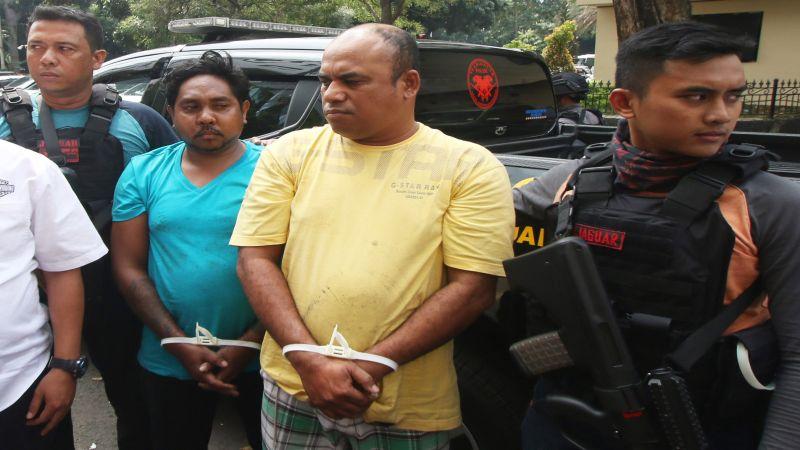 Pelaku pengeroyokan Hermansyah yang berhasil ditangkap. (Foto: Antara)