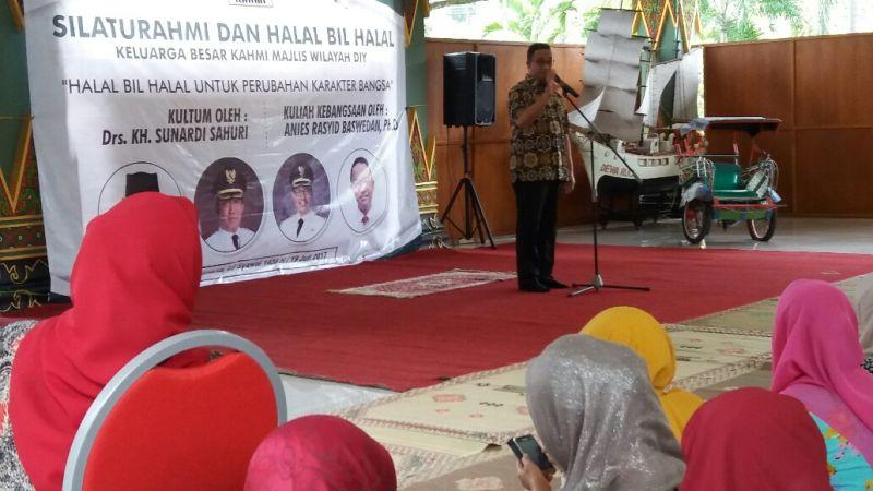 Halalbihalal dengan KAHMI Yogyakarta, Anies: Tak Perlu Membentak kepada Warga Miskin