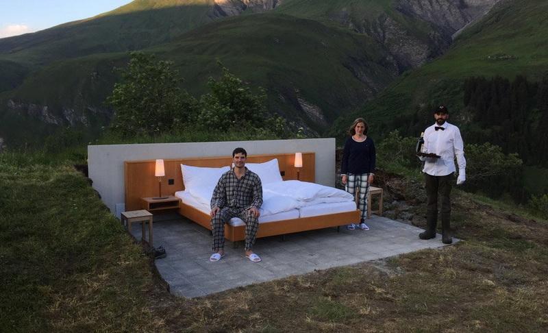 HOT THREAD (4): Hotel Mewah Tanpa Atap dan Dinding, Bisa Melihat Langsung Pesona Pegunungan Swiss