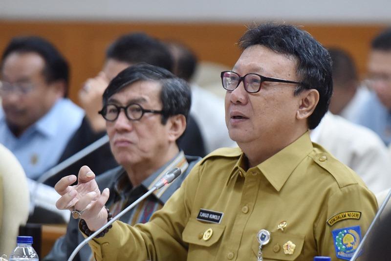 Menteri Dalam Negeri Tjahjo Kumolo. Foto Antara