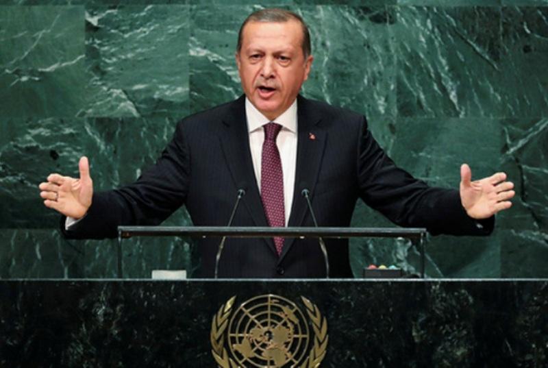 Presiden Turki Recep Tayyip Erdogan dalam sidang umum PBB. (Foto: Dok. PBB)