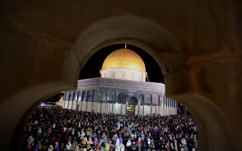 Rock Mosque di Kompleks Masjid Al Aqsa. (Foto: Mahfouz Abu Turk/APA Images)