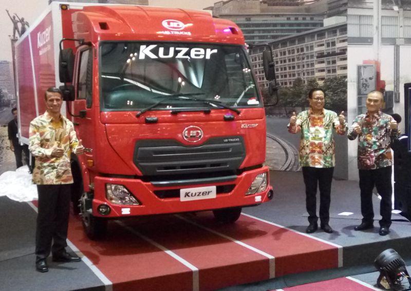 Truk UD Trucks Kuzer world premier di GIIAS 2017 (Foto: Anton/Okezone)