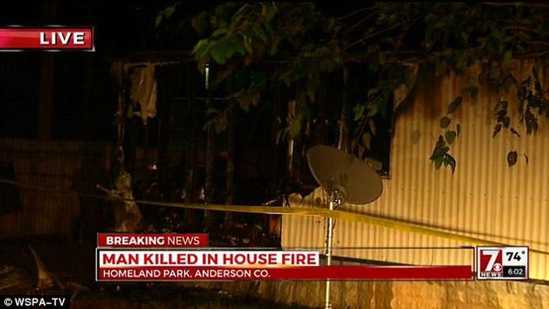 Lokasi kebakaran. (Foto: Seven News)