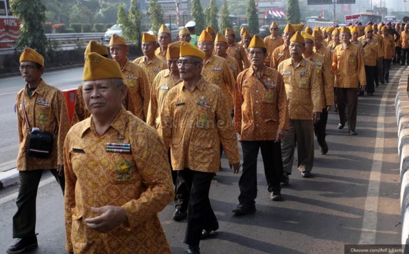 Ilustrasi para veteran Indonesia. (Foto: Arif Julianto/Okezone)