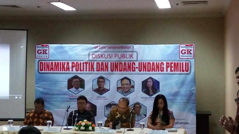 Diskusi Dinamika Politik dan UU Pemilu di Senayan, Jakarta (Harits/Okezone)