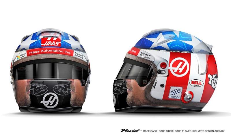 Design Helm demi penghormatan kepada mendiang hayden grosjean desain helm baru