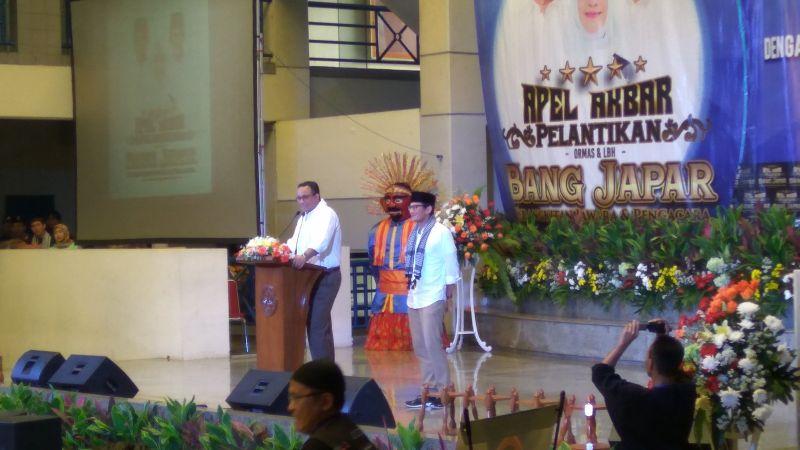Anies Baswedan saat hadir di acara Bang Japar (Foto: Arie Dwi Satrio/Okezone)