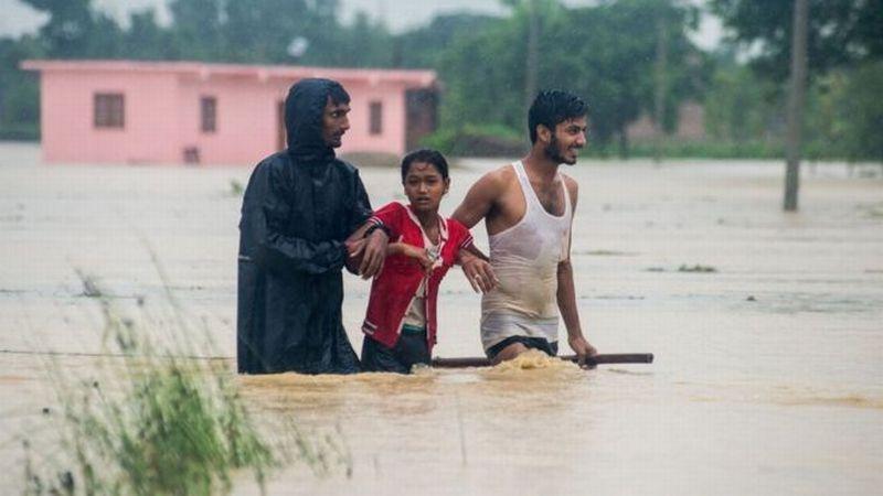 Banjir dan tanah longsor hantam Nepal. (Foto: AFP)