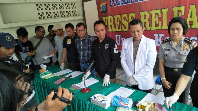 Pengungkapan kasus bandar sabu (Foto: Okezone)