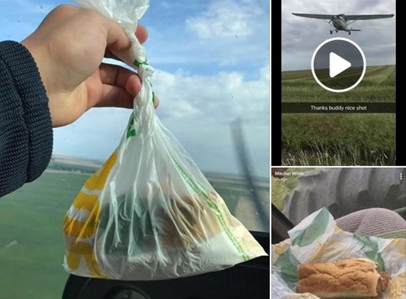 https: img.okezone.com content 2017 08 28 298 1764709 tepuk-tangan-pria-ini-berikan-sandwich-kepada-sahabatnya-dari-atas-pesawat-SLgpNXBVYg.jpg