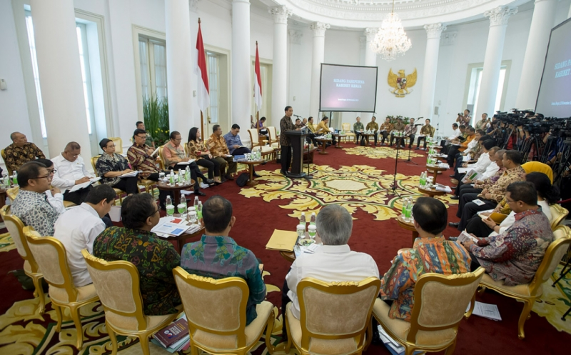Rapat kabinet (Foto: Antara)