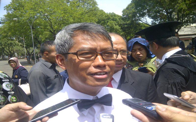 Rektor Unpad (Foto: Oris Riswan/Okezone)