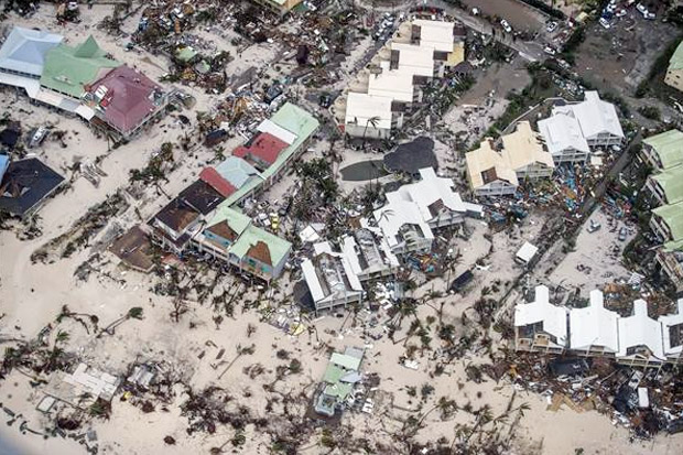 Ilustrasi Badai Irma. (Foto: Ist/Sindonews)