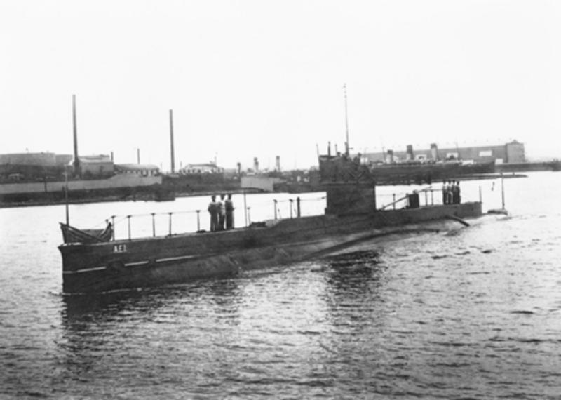 HMAS AE1. (Foto: Australia War Memorial)