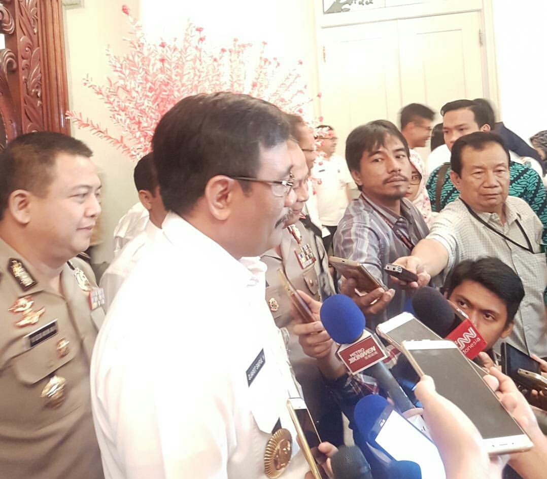 Gubernur DKI Jakarta Djarot Saiful Hidayat (Foto: Iqbal/Okezone)