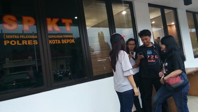 Korban pelecehan seksual, CP saat melapor ke Polresta Depok (Foto: Apriyadi Hidayat)