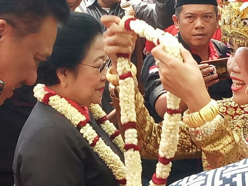 Megawati di Sumsel. (Melly P/Okezone)