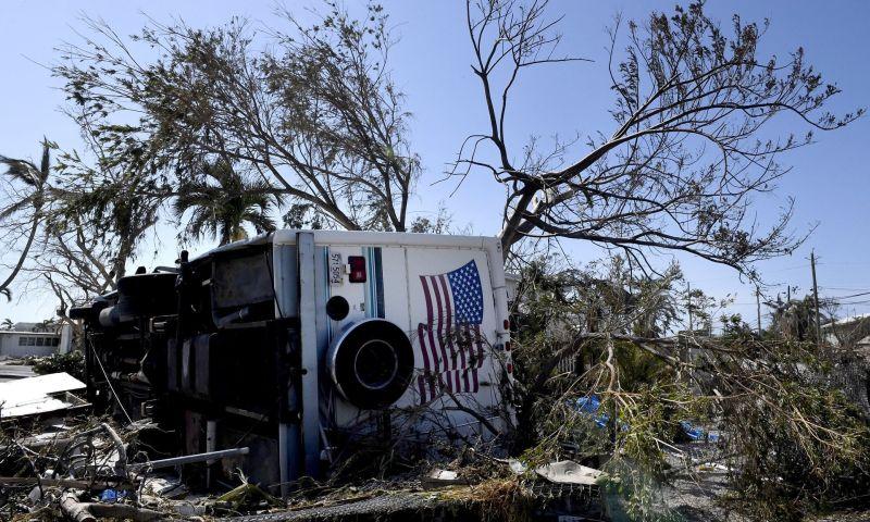 Foto keadaan salah satu lokasi di Florida, Amerika Serikat, yang diporak-porandakan Badai Irma (Foto: Shutterstock/Guardian)