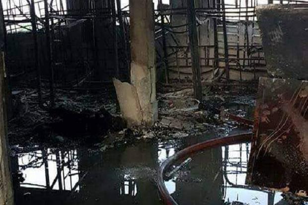Kebakaran sebuah madrasah di Malaysia. (Foto: The Star)