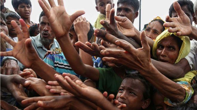 Pengungsi Rohingya. (Foto: STR/AFP/Getty Images)