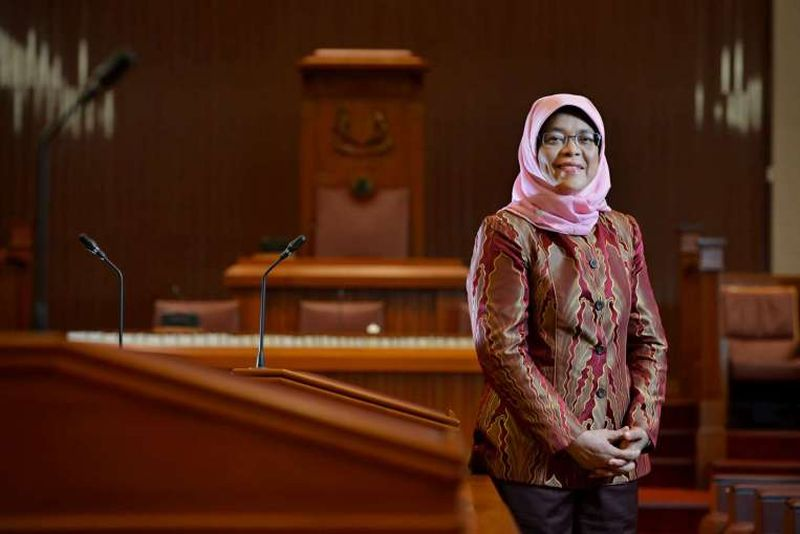 Presiden Singapura, Halimah Yacob. (Foto: Strait Times)
