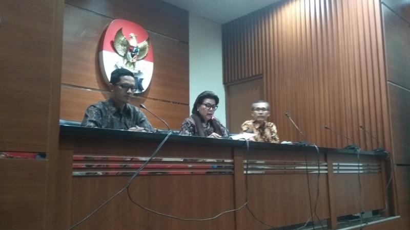 Konferensi pers KPK hasil OTT Bupati Batubara OK Arya (Arie/Okezone)