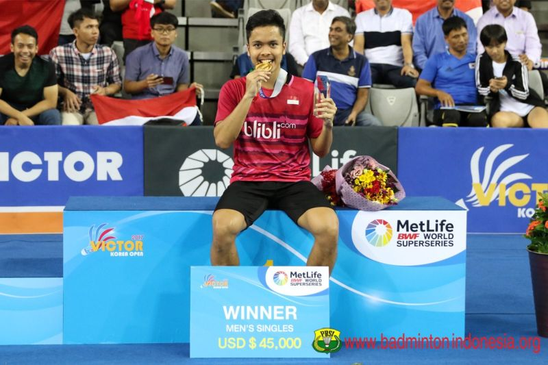 Rebut Gelar Juara Tunggal Putra Korea Open Superseries 2017, Anthony: Ini Hasil Kerja Keras!