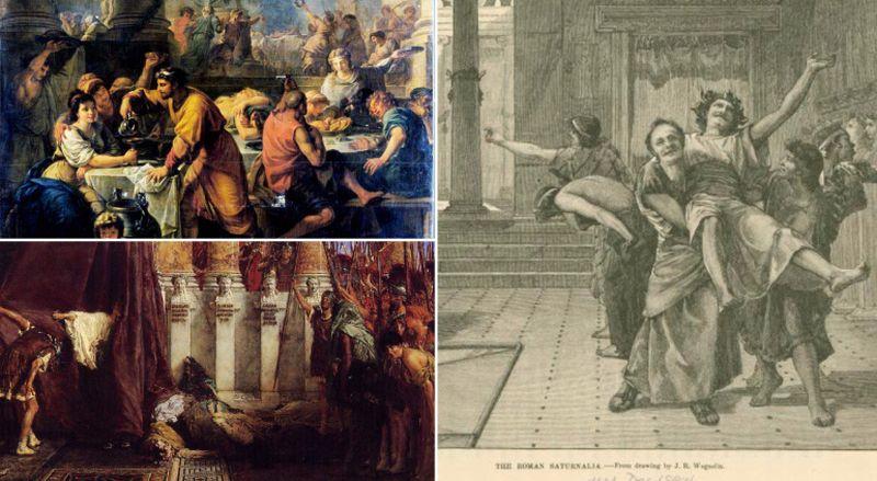 Perayaan Saturlina di Romawi