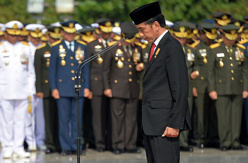 Image result for jokowi upacara