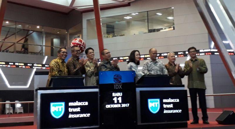 MTWI Tamu BEI ke-560, Saham IPO Malaca Trust Wuwungan Insurance Melesat 20% : Okezone Economy