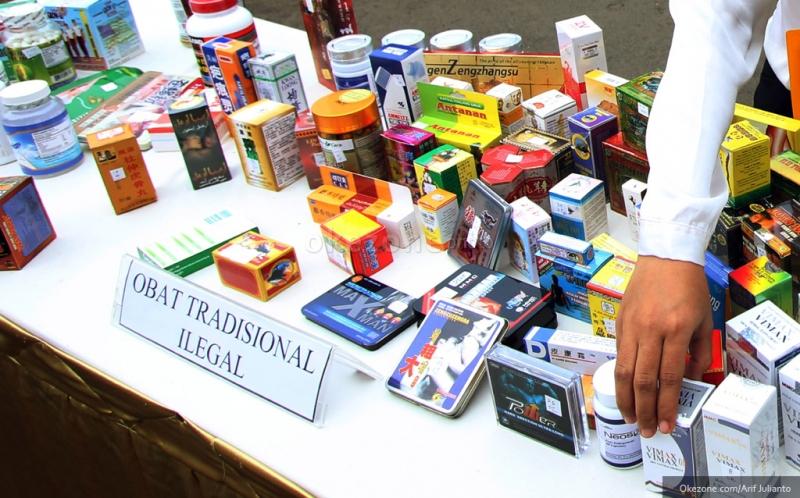 ratusan jamu dan obat kuat dimusnahkan karena tak miliki izin edar