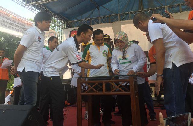 Nyono Ditahan KPK, Subaidi Ikuti Pawai Ta'aruf Pilkada Jombang Sendirian