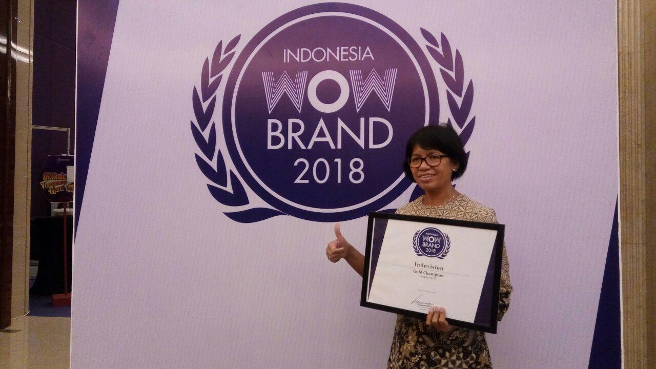 MSKY MNC Sky Vision Raih Gold Award WOW Brand 2018 : Okezone Economy