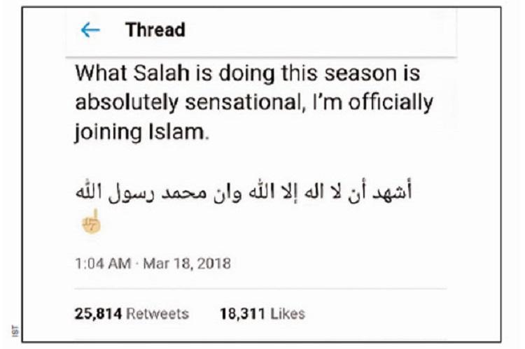 Admin Medsos Masuk Islam Setelah Pemain Bola Favoritnya Cetak 4 Gol